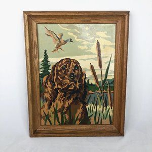Vintage Cocker Spaniel Framed Paint By Number Art